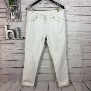 Lou & Grey slouchy skinny off white jeans 28